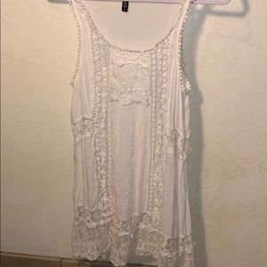 WHITE CROTCHET LACE COVER UP DRESS